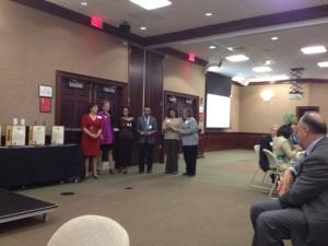 2013 Awardees: Dr. Salas-López, Marco Calderón,  Judy Neyhart and Rosa Ferguson