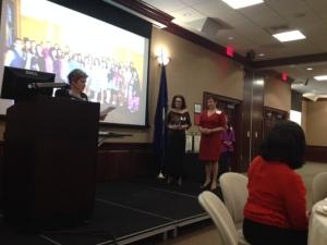 LLA President  Myra Piña + Awardee Dr. Salas -López