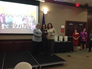 LLA President Myra Piña and Spirit of Education Awardees Judy Neyhart and Rosa Ferguson