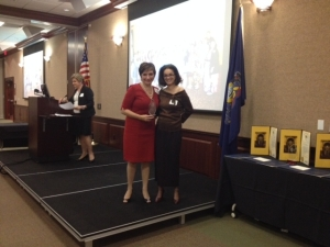 LLA President Myra Piña and Community Leadership Awardee Dr. Salas- López