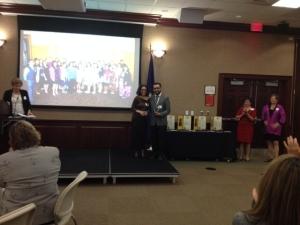 LLA President Myra Piña + Community Partner Awardee Marco Calderón